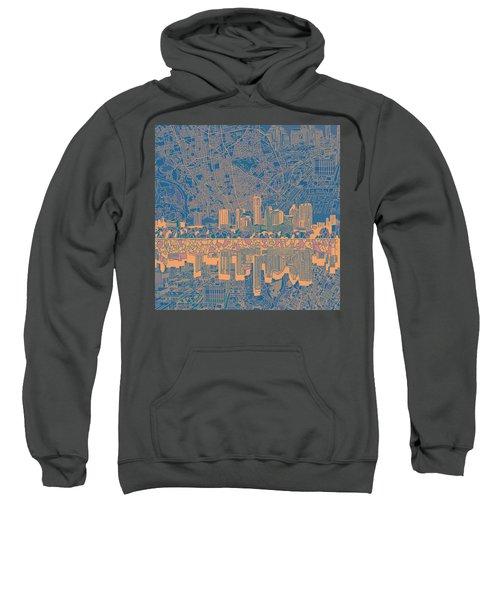 Austin Texas Skyline 2 Sweatshirt by Bekim Art