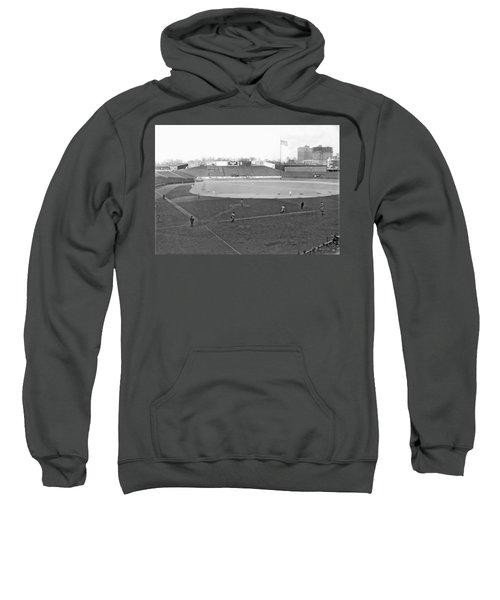 Baseball At Yankee Stadium Sweatshirt by Underwood Archives