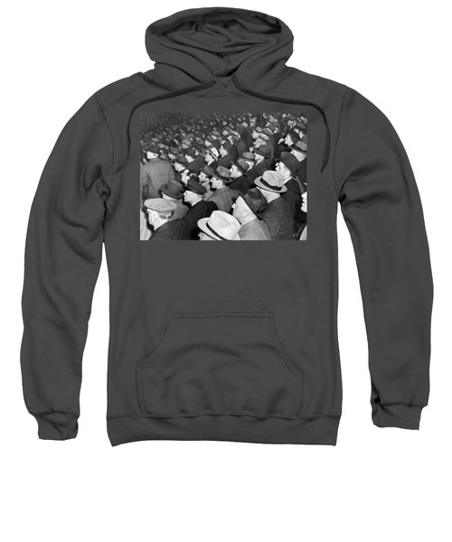 Baseball Fans At Yankee Stadium For The Third Game Of The World Sweatshirt by Underwood Archives