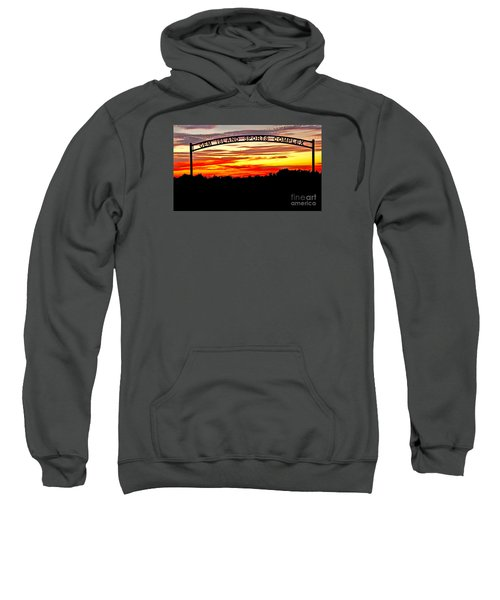 Beautiful Sunset And Emmett Sport Comples Sweatshirt by Robert Bales