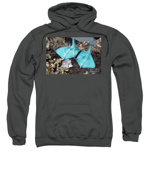 Blue-footed Booby Feet Sweatshirt by Ron Sanford