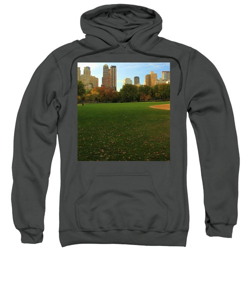Central Park In Autumn Sweatshirt by Dan Sproul