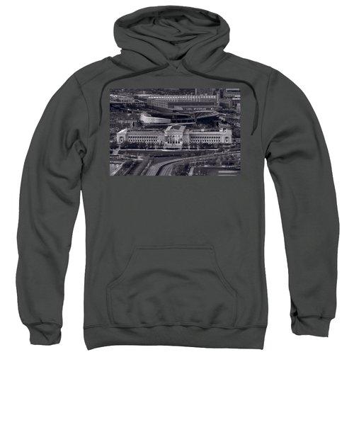 Chicago Icons Bw Sweatshirt by Steve Gadomski