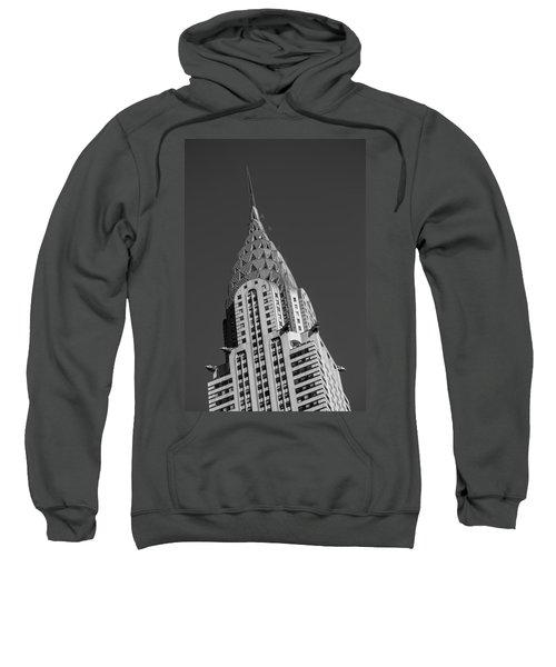 Chrysler Building Bw Sweatshirt by Susan Candelario