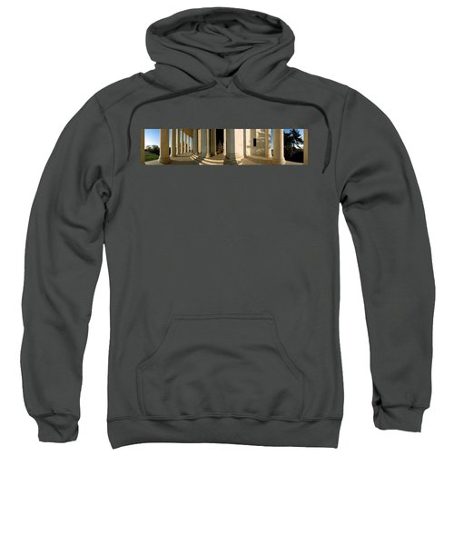 Columns Of A Memorial, Jefferson Sweatshirt by Panoramic Images