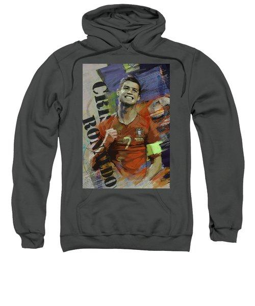Cristiano Ronaldo - B Sweatshirt by Corporate Art Task Force