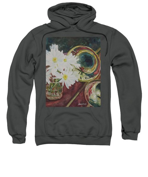 Daisies Bold As Brass Sweatshirt by Jenny Armitage