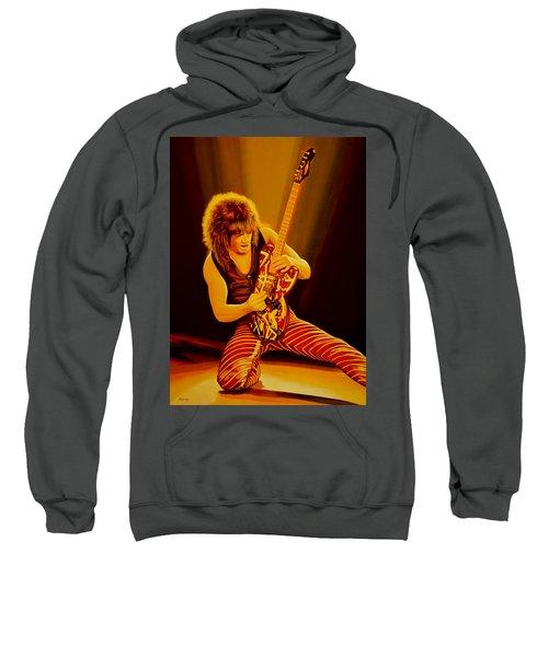 Eddie Van Halen Painting Sweatshirt by Paul Meijering