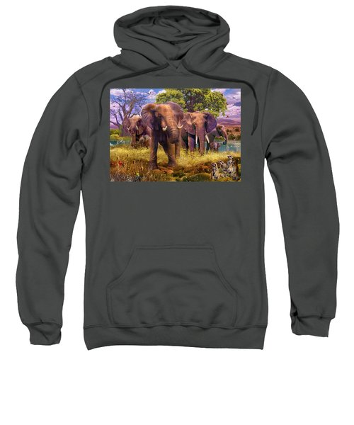 Elephants Sweatshirt by Jan Patrik Krasny