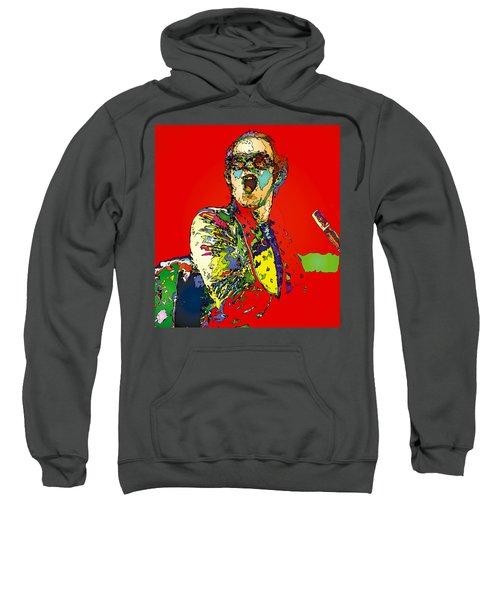 Elton In Red Sweatshirt by John Farr