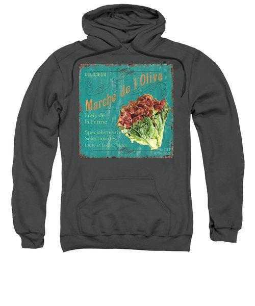 French Market Sign 3 Sweatshirt by Debbie DeWitt