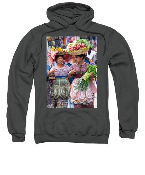 Fruit Sellers In Antigua Guatemala Sweatshirt by David Smith