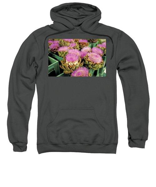 Germany Aachen Munsterplatz Artichoke Flowers Sweatshirt by Anonymous