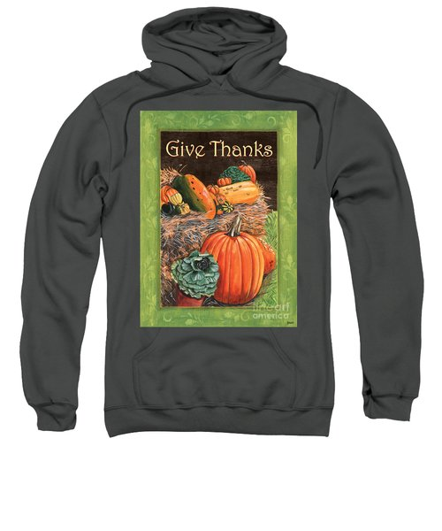 Give Thanks Sweatshirt by Debbie DeWitt