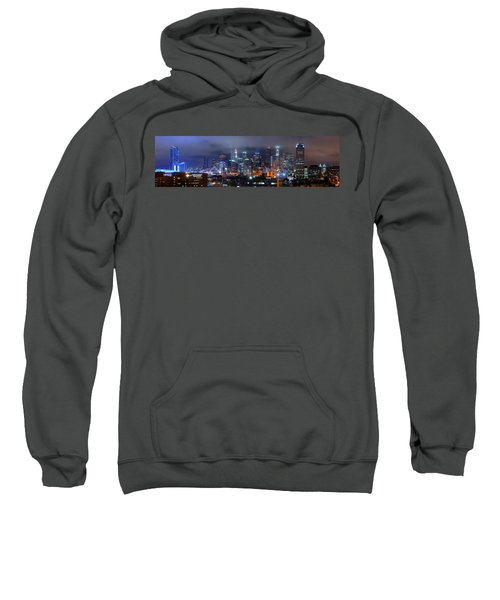 Gotham City - Los Angeles Skyline Downtown At Night Sweatshirt by Jon Holiday