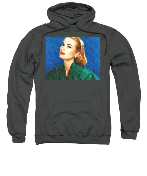 Grace Kelly Painting Sweatshirt by Gianfranco Weiss