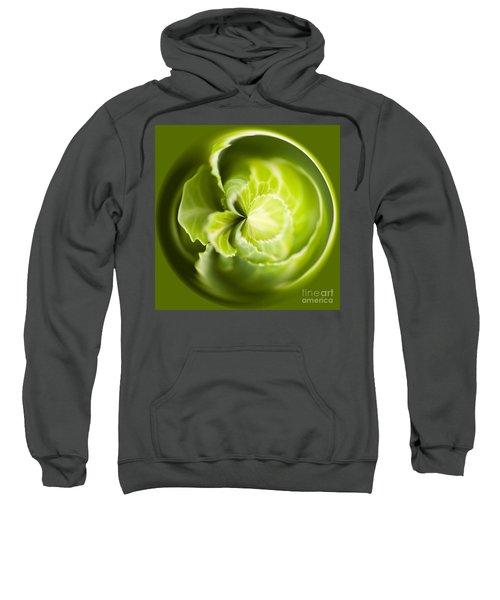 Green Cabbage Orb Sweatshirt by Anne Gilbert
