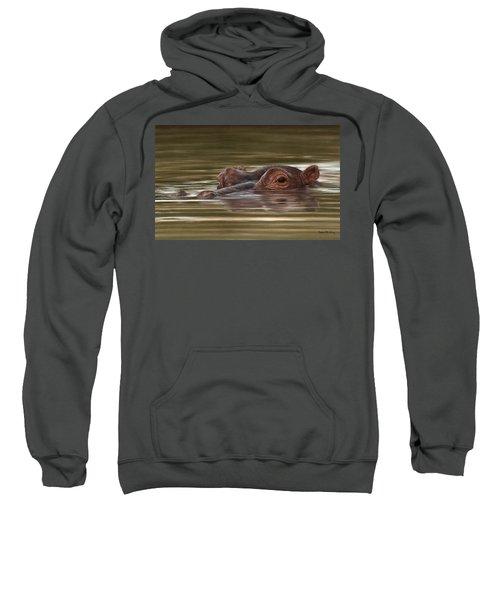 Hippo Painting Sweatshirt by Rachel Stribbling