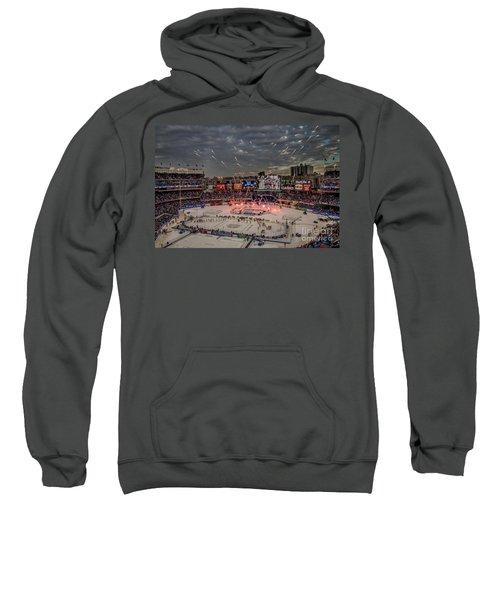 Hockey At Yankee Stadium Sweatshirt by David Rucker