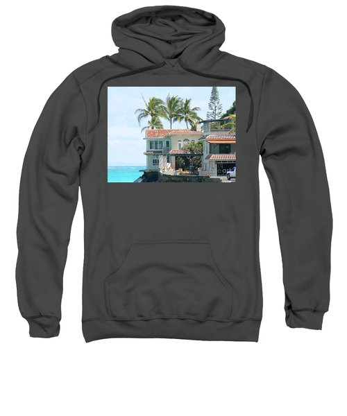House At Land's End Sweatshirt by Dona  Dugay