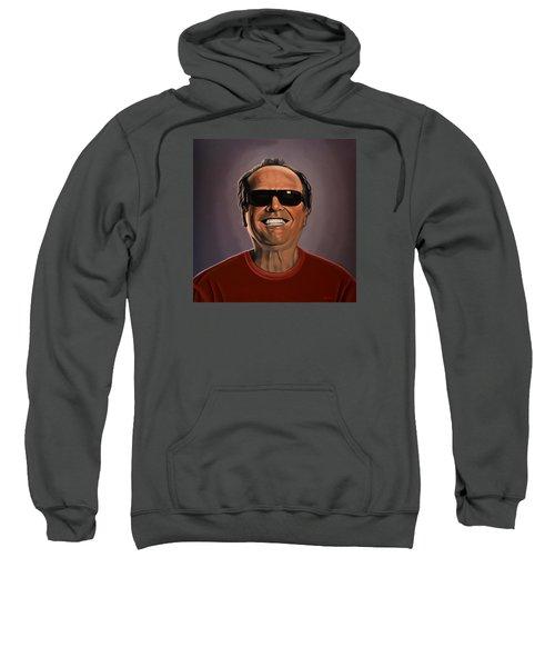 Jack Nicholson 2 Sweatshirt by Paul Meijering