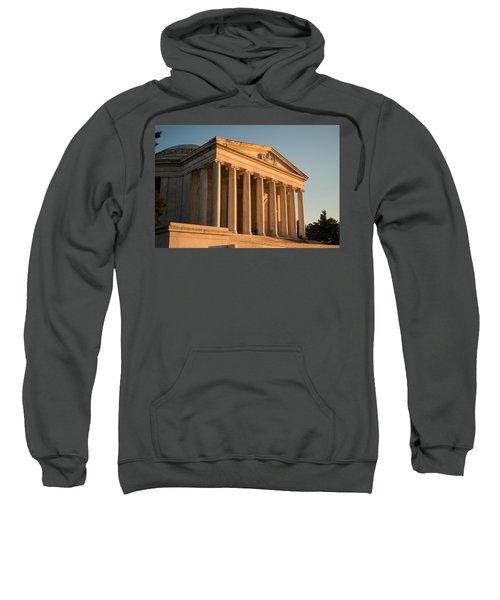 Jefferson Memorial Sunset Sweatshirt by Steve Gadomski