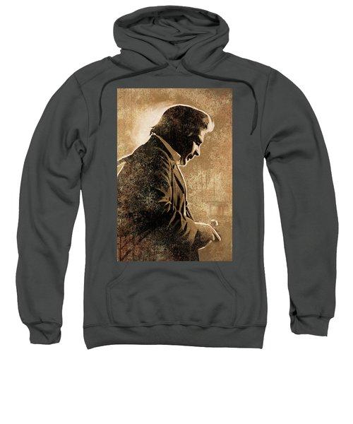 Johnny Cash Artwork Sweatshirt by Sheraz A