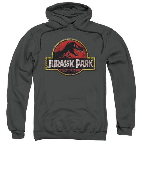 Jurassic Park - Stone Logo Sweatshirt by Brand A