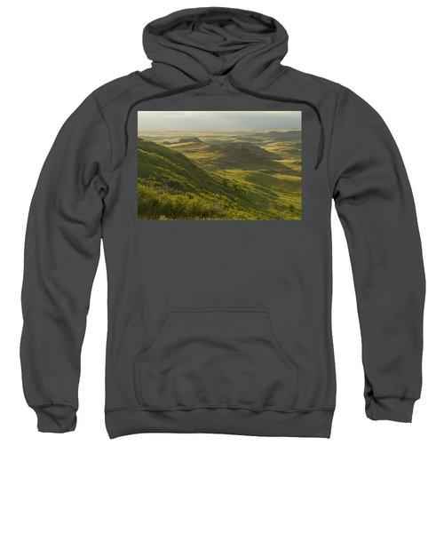 Killdeer Badlands In East Block Of Sweatshirt by Dave Reede