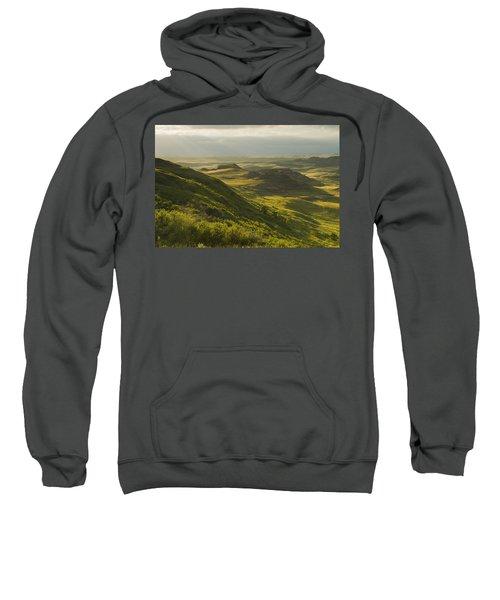 Killdeer Badlands In The East Block Of Sweatshirt by Dave Reede