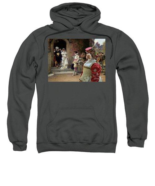 Korthals Pointing Griffon Art Canvas Print Sweatshirt by Sandra Sij