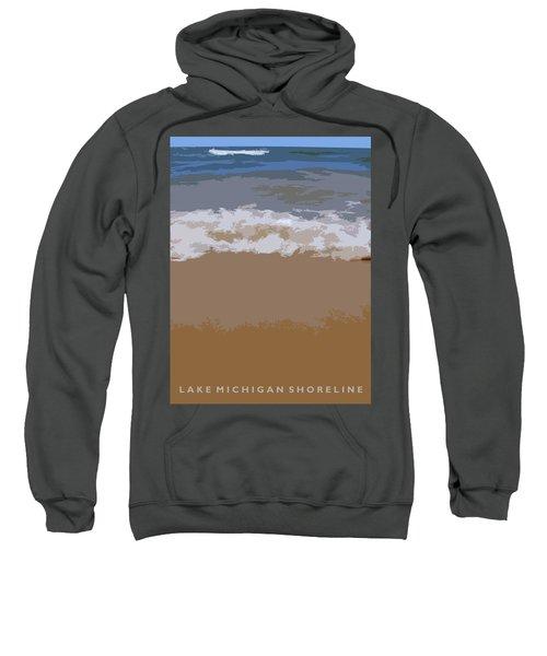 Lake Michigan Shoreline Sweatshirt by Michelle Calkins