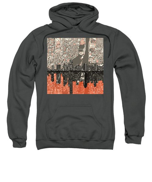 Miami Skyline Abstract 2 Sweatshirt by Bekim Art