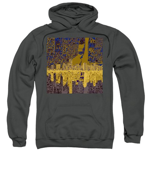 Miami Skyline Abstract 3 Sweatshirt by Bekim Art