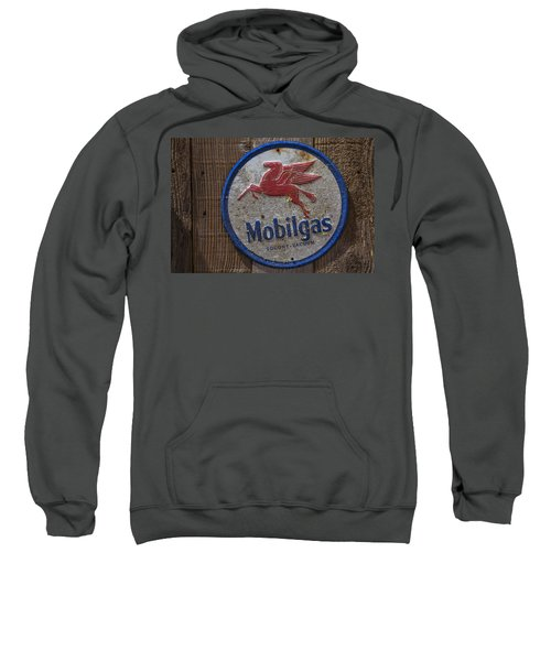 Mobil Gas Sign Sweatshirt by Garry Gay