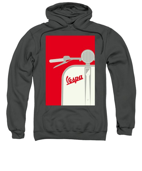My Vespa - From Italy With Love - Red Sweatshirt by Chungkong Art