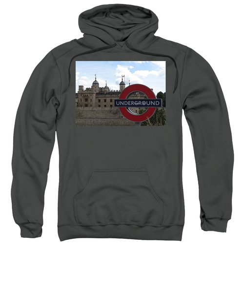 Next Stop Tower Of London Sweatshirt by Jenny Armitage