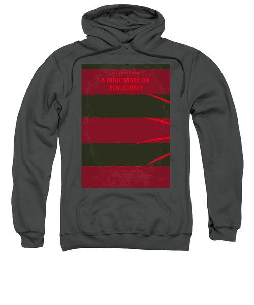 No265 My Nightmare On Elmstreet Minimal Movie Poster Sweatshirt by Chungkong Art