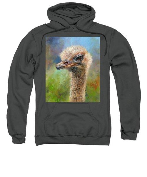 Ostrich Sweatshirt by David Stribbling