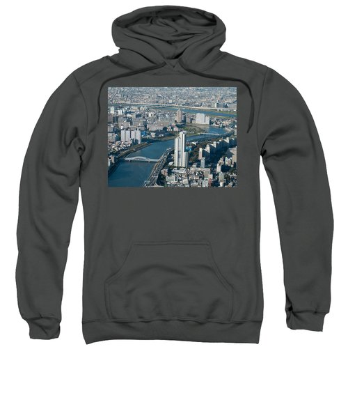 Panorama Of Tokyo Sweatshirt by Jill Mitchell