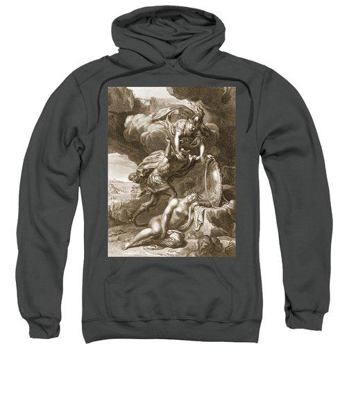 Perseus Cuts Off Medusas Head, 1731 Sweatshirt by Bernard Picart