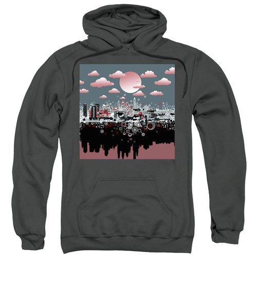 Philadelphia Skyline Abstract 6 Sweatshirt by Bekim Art