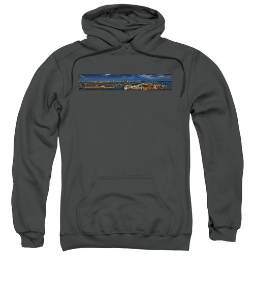 Port Of Miami Panoramic Sweatshirt by Susan Candelario
