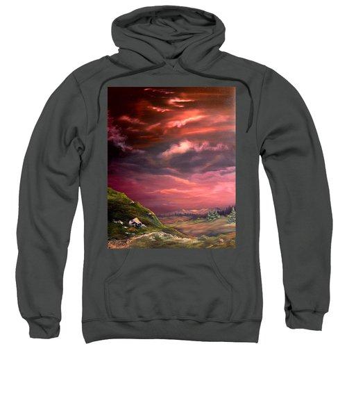 Red Sky At Night Sweatshirt by Jean Walker