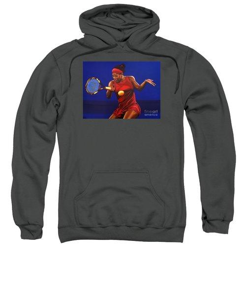 Serena Williams Painting Sweatshirt by Paul Meijering