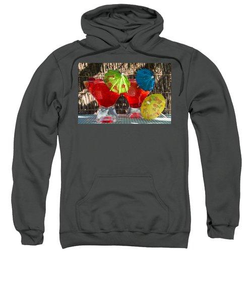 Shirley Temple Cocktail Sweatshirt by Iris Richardson