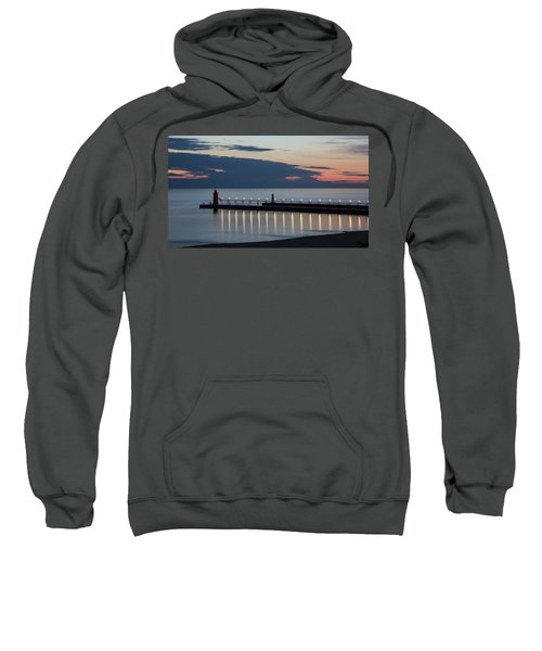 South Haven Michigan Lighthouse Sweatshirt by Adam Romanowicz