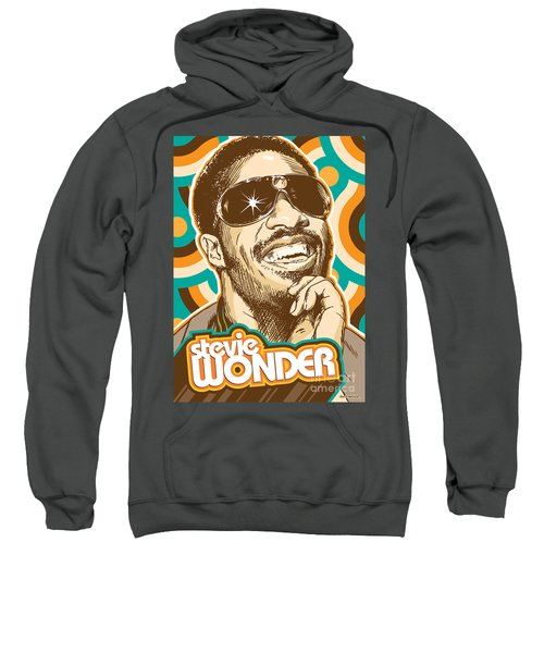 Stevie Wonder Pop Art Sweatshirt by Jim Zahniser
