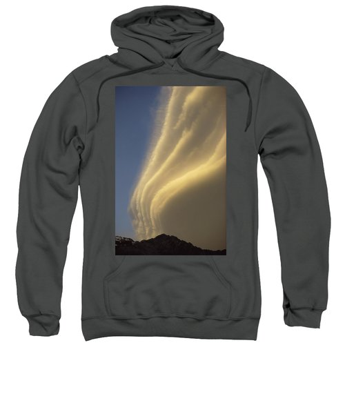 Sunset On Storm Clouds Near Mt Cook Sweatshirt by Ian Whitehouse