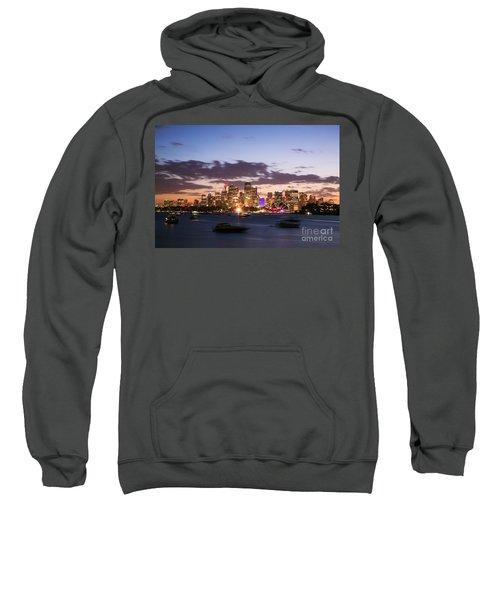 Sydney Skyline At Dusk Australia Sweatshirt by Matteo Colombo